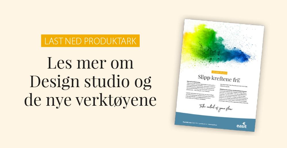 """Last ned produktark """"Design Studio"""""""